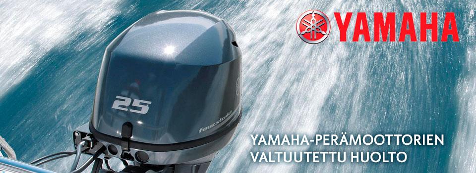 Yamaha-perämoottorien valtuutettu huolto